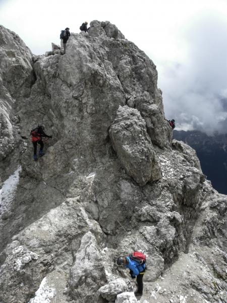 53 zauj°mavž ferratovž okruh na vrchole Malāho Cristalla