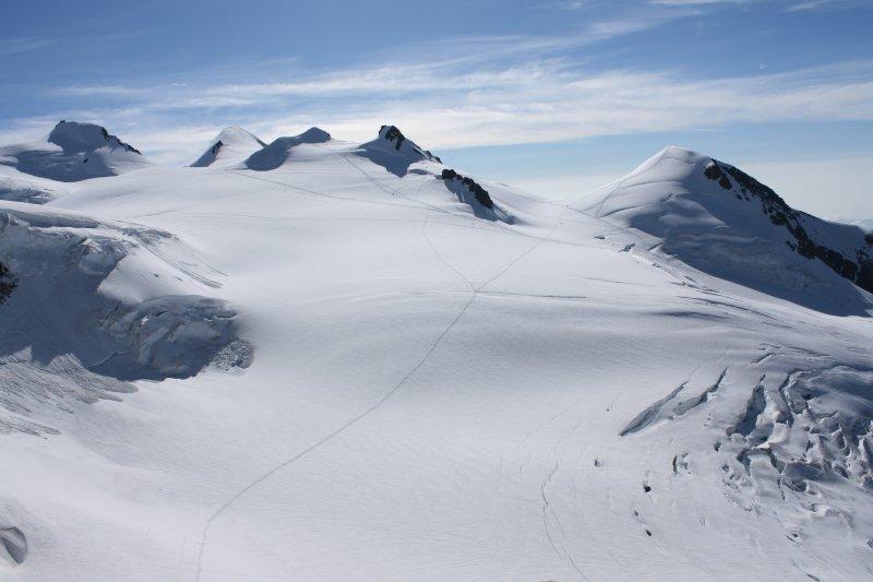 Pohľad na vrcholy Monte Rosa