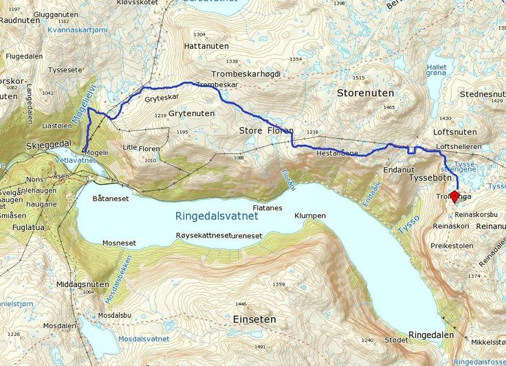 Mapa-Trolltunga